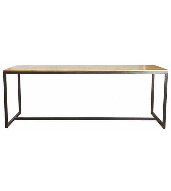 Iron Wood Dining Tables For Best And Newest Housedoctor Dining Table 'form' Of Iron / Wood, Black / Brown, 200X80X74Cm (View 4 of 20)