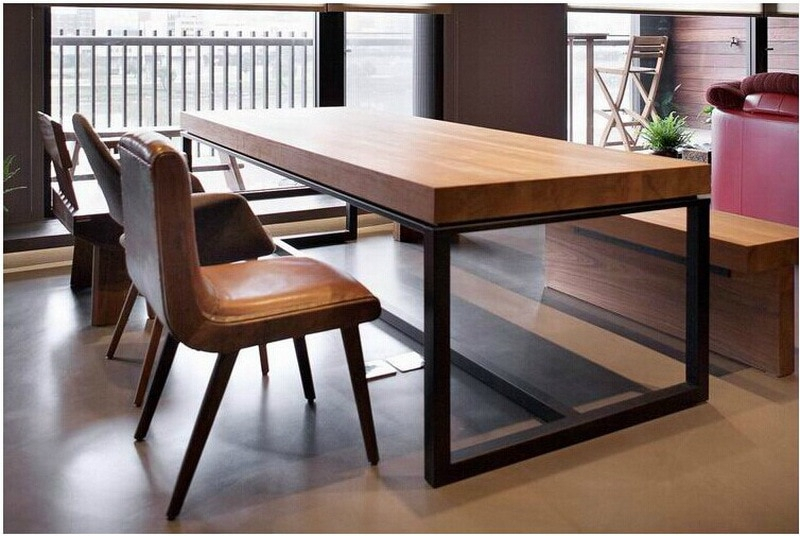 Popular Photo of Iron Wood Dining Tables
