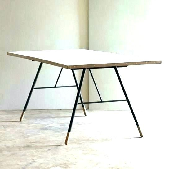 Inspiration about Iron Wood Dining Tables With Metal Legs Throughout Well Known Iron Dining Table Legs – Democraciadirecta.co (#14 of 20)