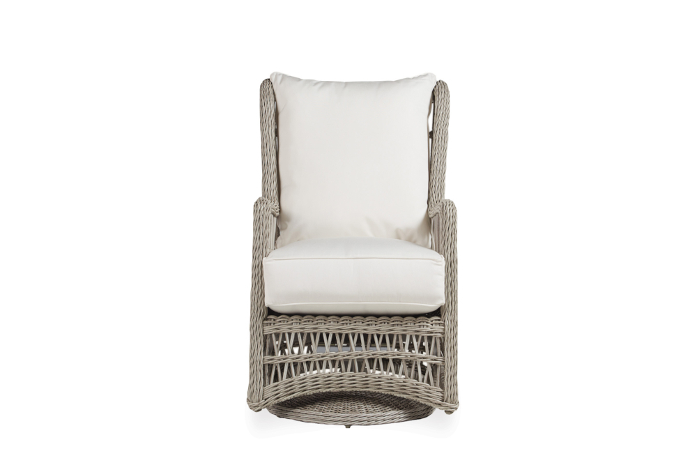 Inspiration about Item | Lloyd Flanders – Premium Outdoor Furniture In All Intended For Woven High Back Swivel Chairs (#10 of 20)