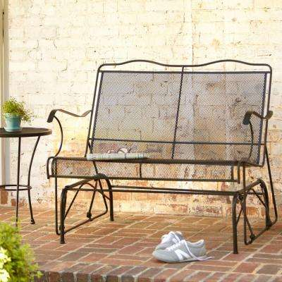 Jackson Patio Loveseat Glider Throughout Black Outdoor Durable Steel Frame Patio Swing Glider Bench Chairs (View 20 of 20)