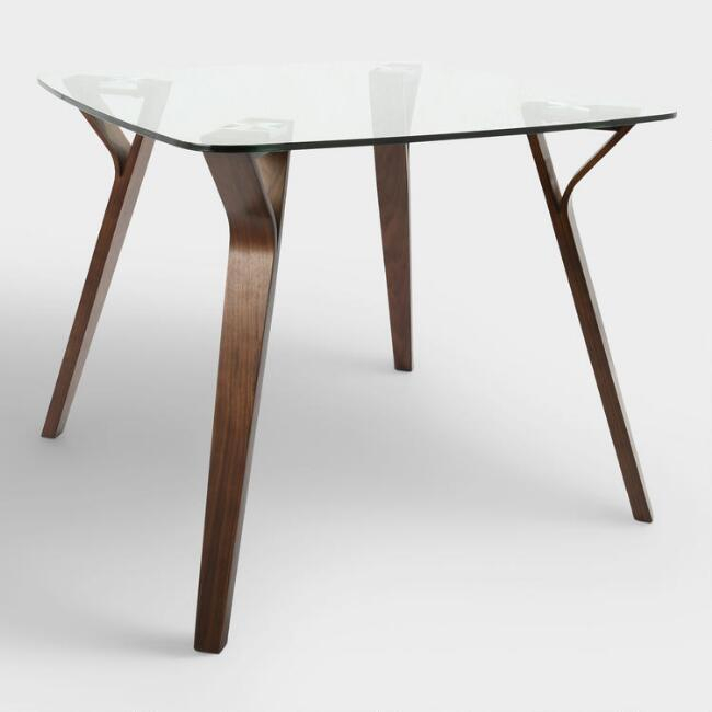 Joel Glass Wood Mid Century Dining Table Within Well Known Mid Century Rectangular Top Dining Tables With Wood Legs (View 5 of 20)