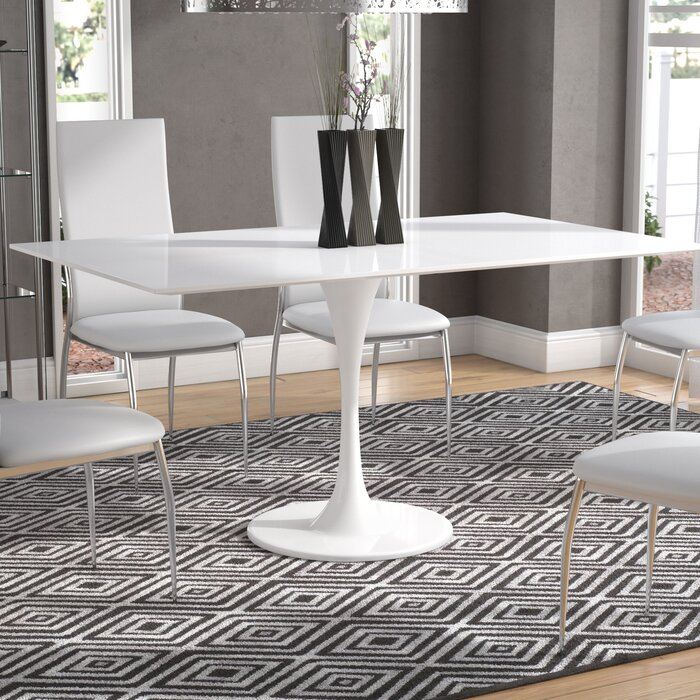 Julien Contemporary Rectangular Dining Table With Preferred Contemporary Rectangular Dining Tables (View 15 of 20)