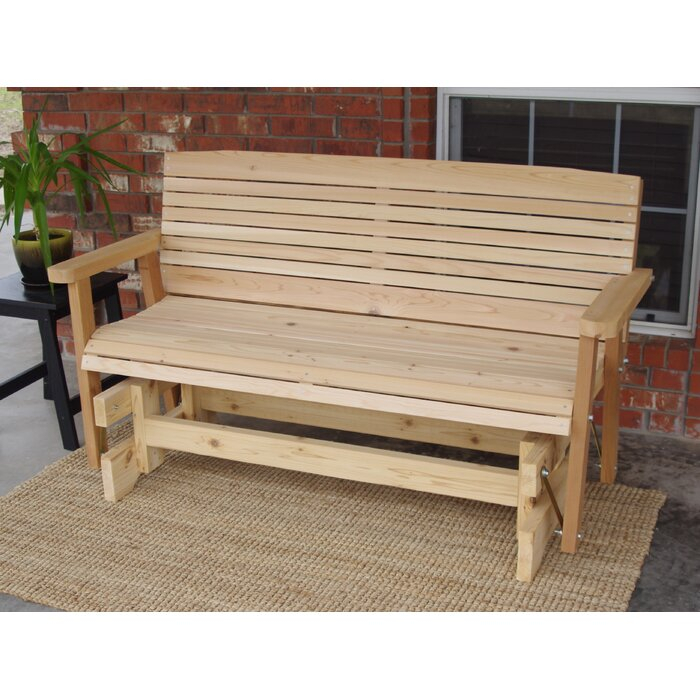 Popular Photo of Cedar Colonial Style Glider Benches