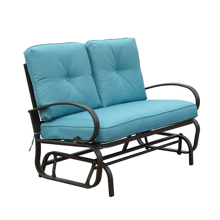 Popular Photo of Rocking Glider Benches With Cushions