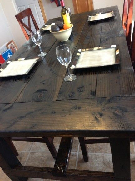 Kitchen Table With Country Dining Tables With Weathered Pine Finish (#12 of 20)