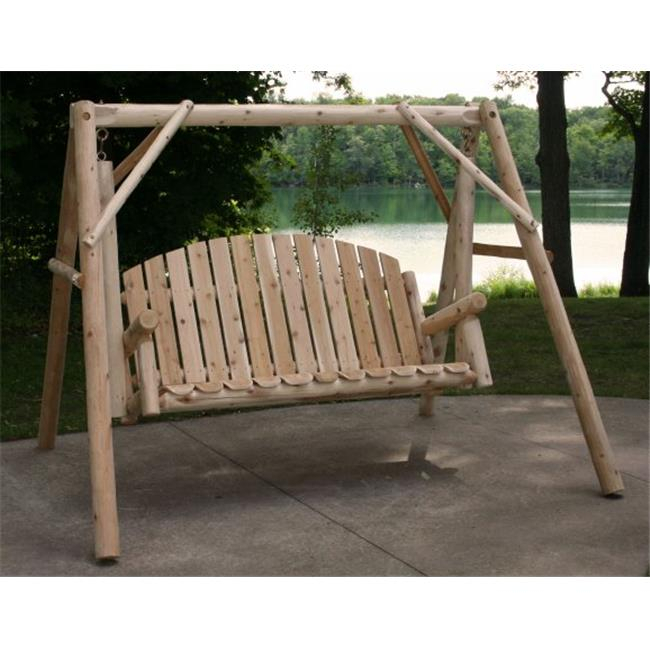 Lakeland Mills Country Garden Porch Swing With Stand – Walmart Throughout Porch Swings With Stand (#8 of 20)