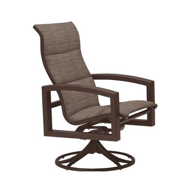 Inspiration about Lakeside Padded Sling High Back Swivel Rocker Within Padded Sling High Back Swivel Chairs (#13 of 20)