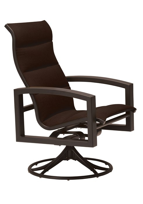 Inspiration about Lakeside Padded Sling Swivel Rocker High Back – Hauser's Patio Throughout Padded Sling High Back Swivel Chairs (#19 of 20)