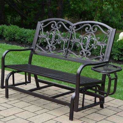 Lakeville Metal Outdoor Glider With Regard To Aluminum Glider Benches With Cushion (View 16 of 20)