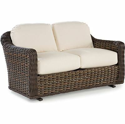 Lane Venture South Hampton Double Glider Bench With Cushions Intended For Double Glider Benches With Cushion (#12 of 20)