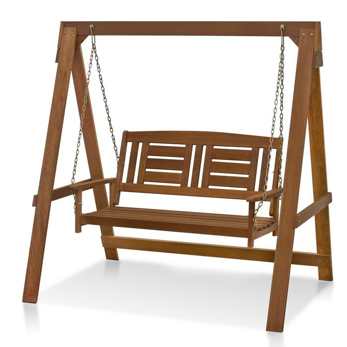 Inspiration about Langley Street Arianna Hardwood Hanging Porch Swing With With Hardwood Hanging Porch Swings With Stand (#2 of 20)
