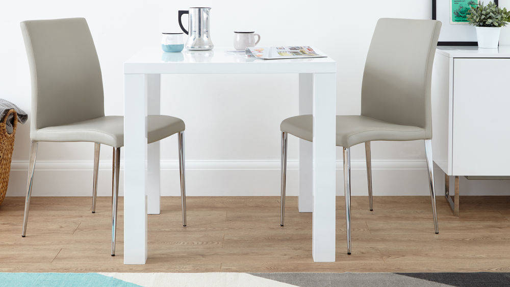 Large Funky White Oak Square Dining Table And Real Leather In Preferred Contemporary 4 Seating Square Dining Tables (#11 of 20)