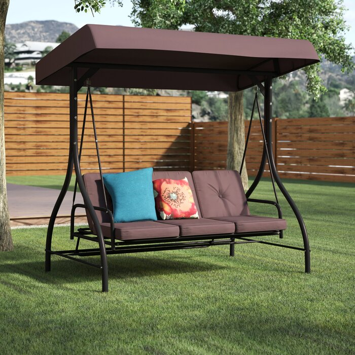 Inspiration about Lasalle Canopy Patio Porch Swing With Stand Intended For Canopy Patio Porch Swing With Stand (#1 of 20)