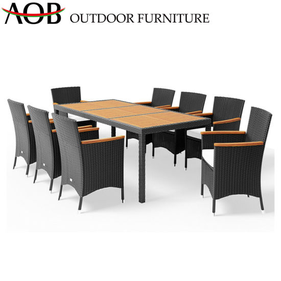 Latest China Contemporary Outdoor Modern 6 Seater Rectangle Dining Table Garden Furniture Pertaining To 6 Seater Retangular Wood Contemporary Dining Tables (View 16 of 20)