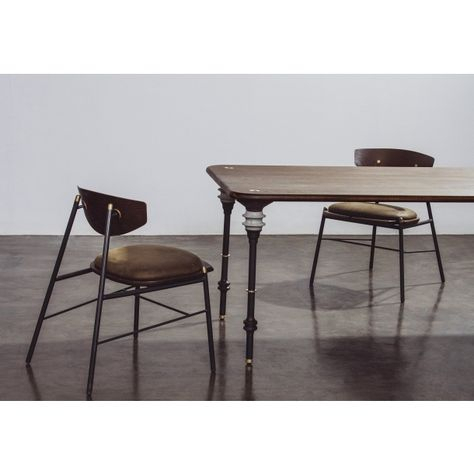 Latest Dining Tables In Smoked Seared Oak In Kimbell Dining Table In Smoked Wood Top (#11 of 20)