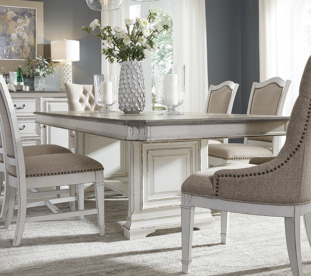 Inspiration about Latest Homepage Title Throughout Distressed Grey Finish Wood Classic Design Dining Tables (#20 of 20)