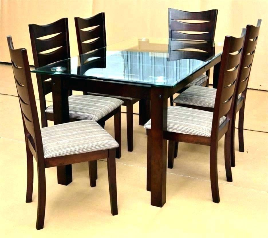 Latest Rectangular Glass Dining Table Set Small And Chairs Room Regarding Rectangular Glasstop Dining Tables (#6 of 20)