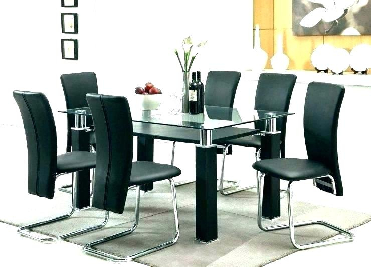 Inspiration about Latest Retro Round Glasstop Dining Tables Inside Retro Glass Top Dining Table Set With 6 Pu Leather Chairs (#11 of 20)