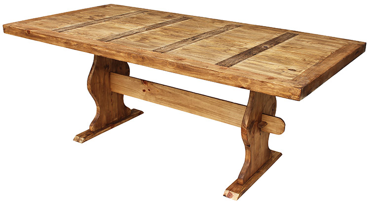 Inspiration about Latest Rustic Pine Small Dining Tables Pertaining To Rustic Furniture – Large Trestle Mexican Rustic Pine Dining (#7 of 20)