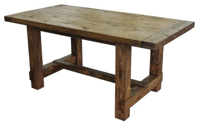 Inspiration about Latest Small Dining Table, Pine Wood With Weathered Finish Within Rustic Pine Small Dining Tables (#12 of 20)