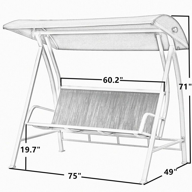 Inspiration about Latura Outdoor Pvc Coated Polyester Porch Swing With Stand In Outdoor Pvc Coated Polyester Porch Swings With Stand (#6 of 20)