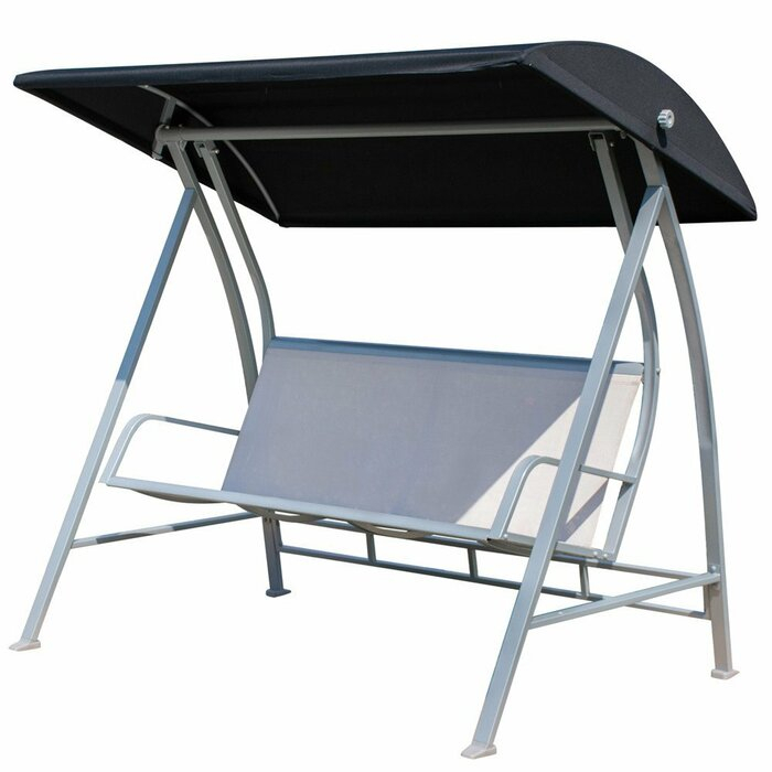 Latura Outdoor Pvc Coated Polyester Porch Swing With Stand Regarding Outdoor Pvc Coated Polyester Porch Swings With Stand (View 7 of 20)