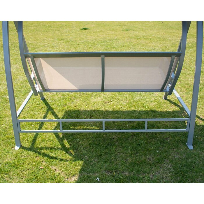 Latura Outdoor Pvc Coated Polyester Porch Swing With Stand With Regard To Outdoor Pvc Coated Polyester Porch Swings With Stand (View 15 of 20)