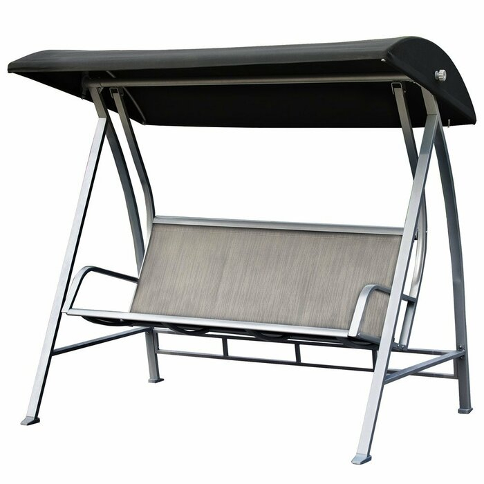 Latura Outdoor Pvc Coated Polyester Porch Swing With Stand With Regard To Outdoor Pvc Coated Polyester Porch Swings With Stand (View 2 of 20)