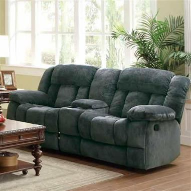 Laurelton Charcoal Fabric Double Glider Reclining Love Seat Inside Double Glider Loveseats (#14 of 20)