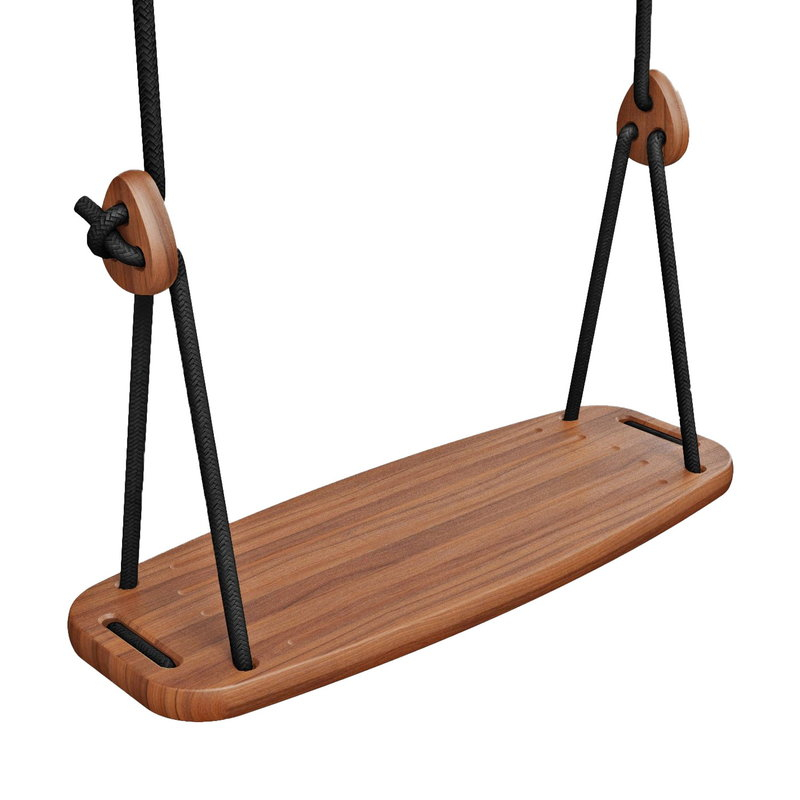 Inspiration about Lillagunga Lillagunga Classic Outdoor Swing, Walnut – Black Within 2 Person Black Wood Outdoor Swings (#18 of 20)