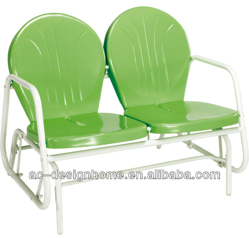 Inspiration about Lime Green/white Retro Metal Tulip Double Glider – Buy Lime Green/white  Retro Metal Tulip Double Glider,retro Metal Outdoor Chair,metal Glider  Chair Regarding Outdoor Retro Metal Double Glider Benches (#10 of 20)