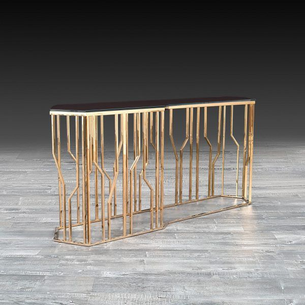 Inspiration about Lorensia Large Rose Gold Console (#3 of 20)
