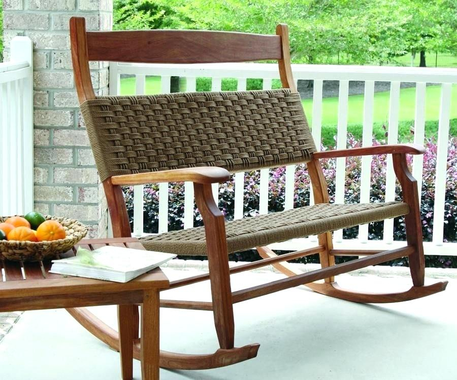 Inspiration about Love This Double Rocker Rocking Chairs In 2019 Rocking Chair Regarding Rocking Benches With Cushions (#6 of 20)