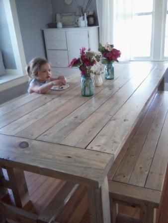 Popular Photo of Country Dining Tables With Weathered Pine Finish