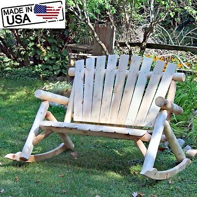Inspiration about Loveseat Rocking Bench 2 Person Swing Outdoor Patio Bench Armchair Garden Double 781176056328 | Ebay With 2 Person Loveseat Chair Patio Porch Swings With Rocker (#16 of 20)