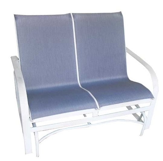 Inspiration about Loveseat Sling (2 Pieces) Pertaining To Outdoor Fabric Glider Benches (#18 of 20)