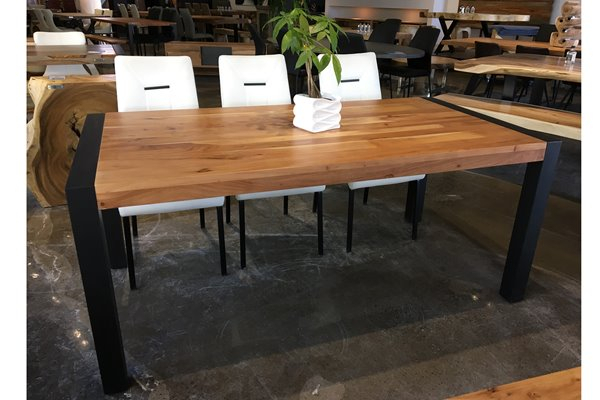 Lowe's For Acacia Dining Tables With Black Rocket Legs (View 2 of 20)