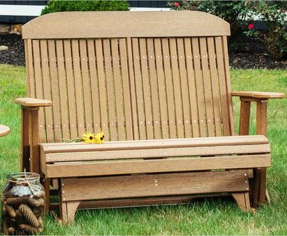 Inspiration about Luxcraft Classic Highback 4Ft. Recycled Plastic Patio Glider Throughout Classic Glider Benches (#12 of 20)