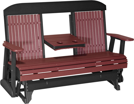 Inspiration about Luxcraft Poly 5Ft. Classic Highback Style Glider Intended For Classic Glider Benches (#11 of 20)