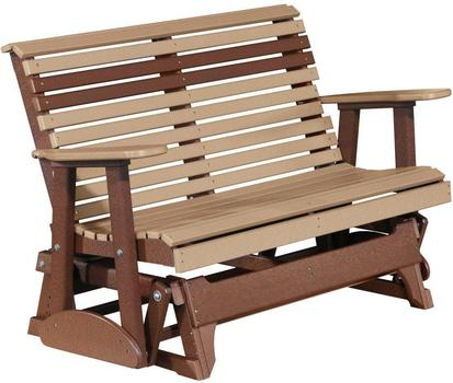Inspiration about Luxcraft Rollback Recycled Plastic 4Ft. Patio Glider With Regard To Rocking Glider Benches (#13 of 20)