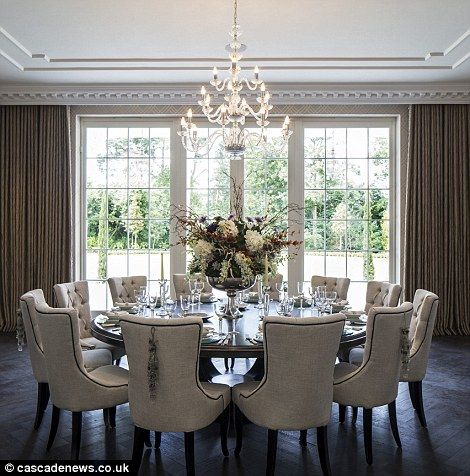 Mansion With Cinema, Pool And 1,700 Bottle Cellar On Sale Within Most Up To Date Elegance Large Round Dining Tables (#14 of 20)
