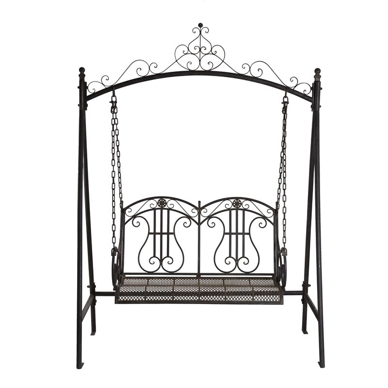 Marquee Rustic Iron 2 Seater Swing I/n 3191789 | Bunnings With Regard To 2 Person Antique Black Iron Outdoor Swings (#6 of 20)