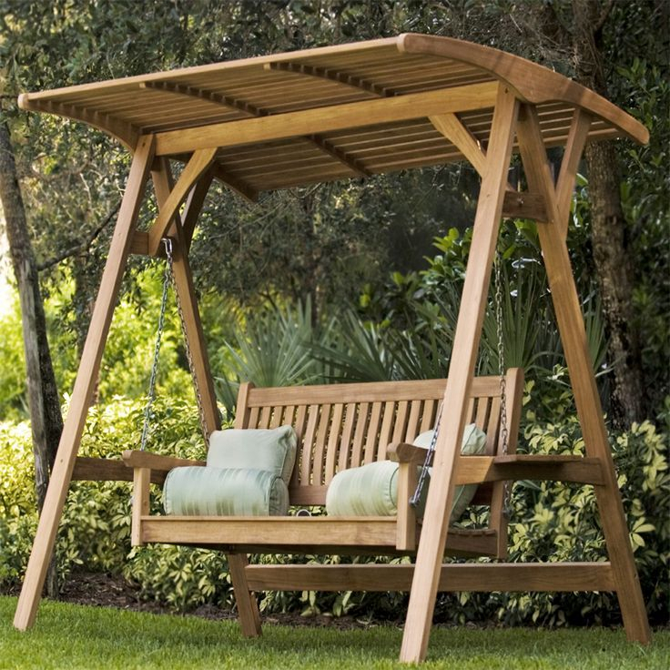 Marvelous Garden Swing Bench #1 Wooden Swings With Canopy For 3 Person Natural Cedar Wood Outdoor Swings (#13 of 20)