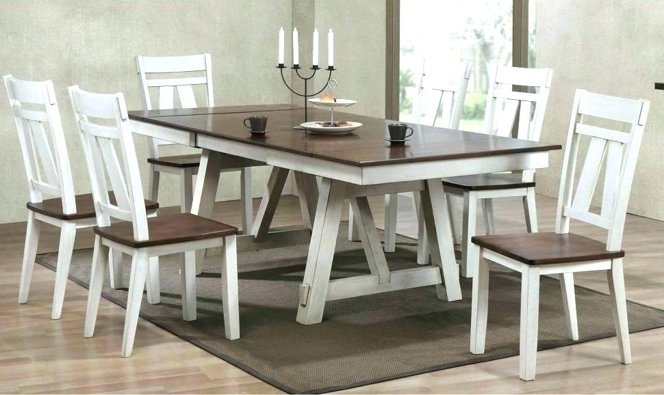 Medium Dining Tables For Most Recent White Farm Dining Table – Stichling (View 19 of 20)