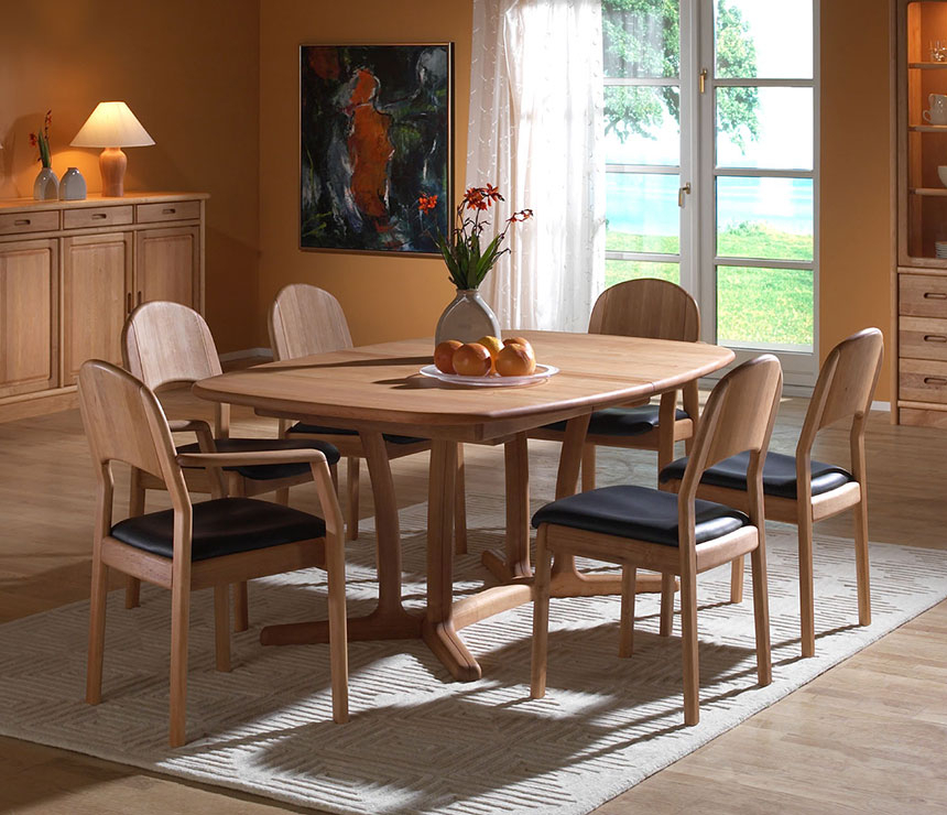 Medium Dining Tables Within Most Recent Fine Dining Room Tables – Solid Wood Wharfside Danish Furniture (View 5 of 20)