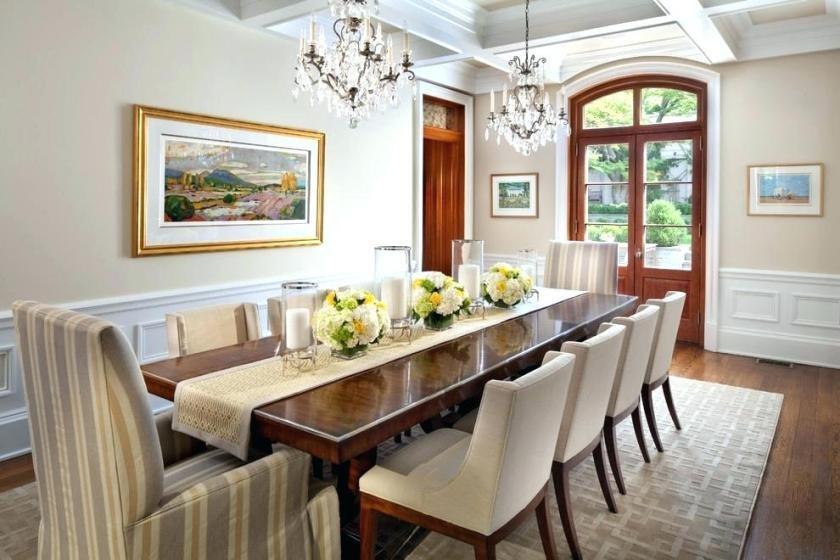 Medium Elegant Dining Tables Throughout Popular Breakfast Table Centerpiece Dinner Decor Ideas Dining Room (#12 of 20)