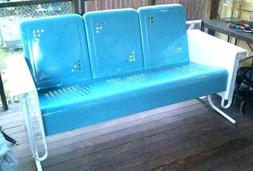 Metal Glider Bench Retro Patio Furniture Astonishing Covers Intended For Rocking Glider Benches With Cushions (View 10 of 20)