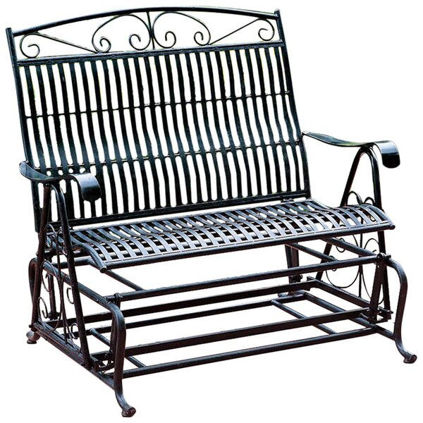 Metal Patio Gliders Within Iron Grove Slatted Glider Benches (View 9 of 20)