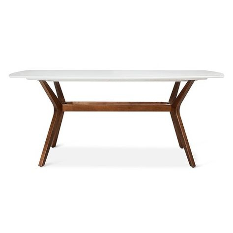 Mid Century Rectangular Top Dining Tables With Wood Legs Intended For Best And Newest Make A Statement In The Dining Room With The Westbrook Mid (View 3 of 20)